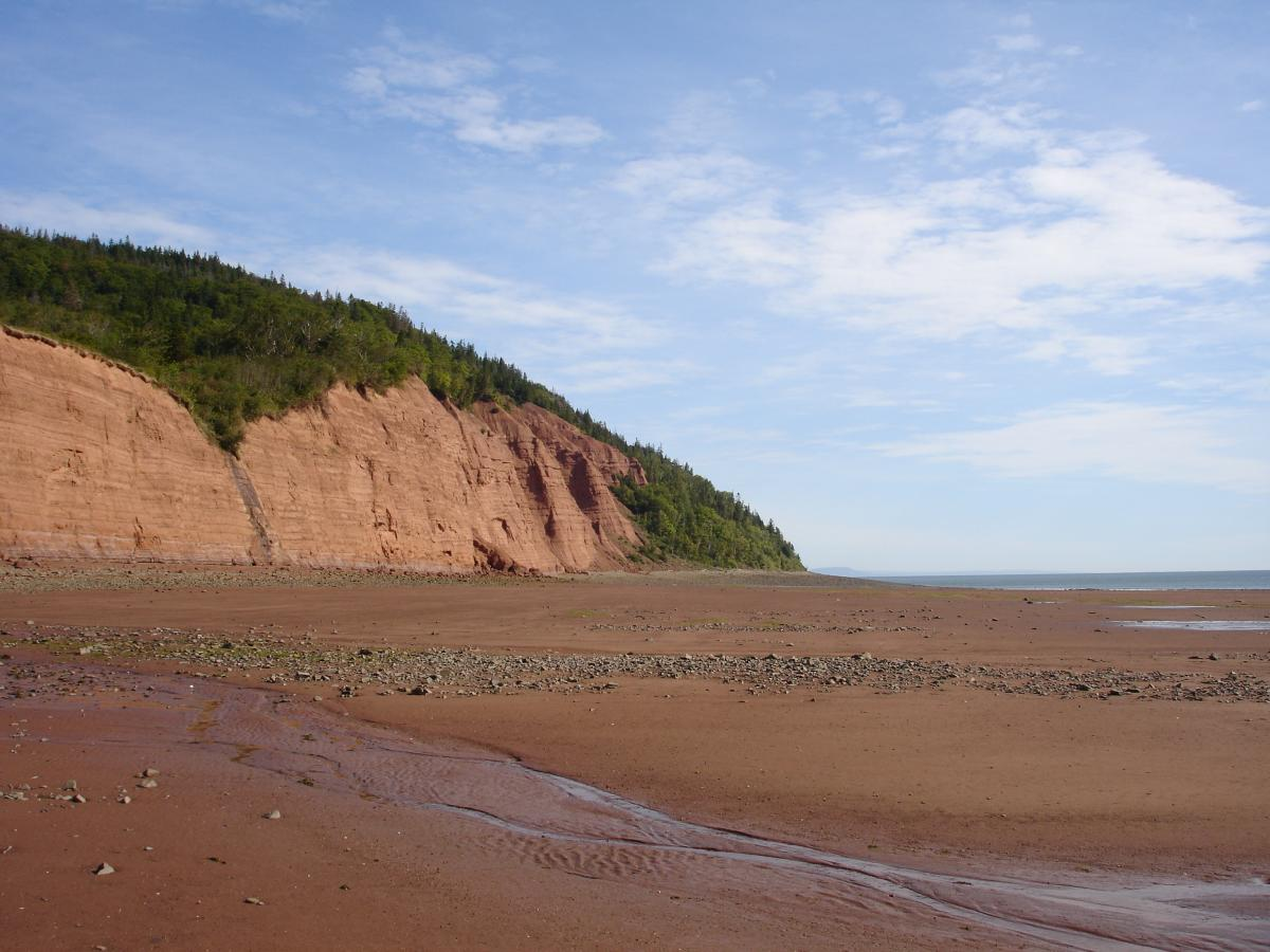 Red sand on Blomidon shore