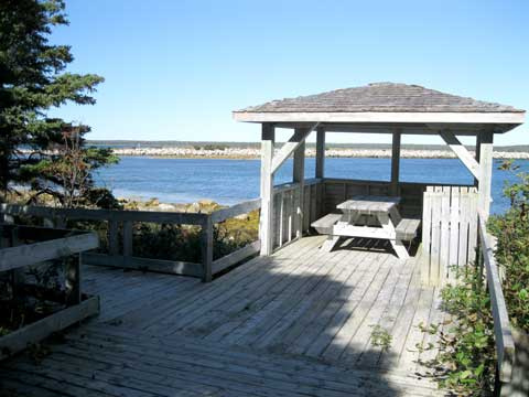 picnic shelter at Black Duck Cove