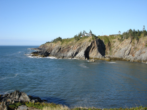 view overlooking the cove and cliffs